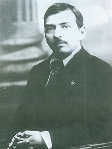 Mikhail Tomsky. Factory worker, trade unionist, Bolshevik leader of the All-Russian Central Council of Trade Unions. Right Oppositionist opposed to Trotsky. Accused in the first show trial (with Zinoviev and Kamenev) and committed suicide in 1936.