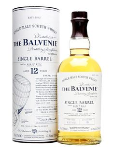 Balvenie 12 Year Old / Single Barrel First Fill : Buy Online - The Whisky Exchange - A 2013 addition to The Balvenie's range, as a younger sibling to the 15 year old single cask. This is exclusively matured in first fill bourbon casks and each bottle is part of a batch that is at m...
