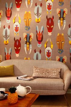 boussac wallpaper animalmasks - Google-Suche