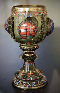 Chalice, Budapest, before 1898 the Museum of Applied Arts,Budapest, Hungary Matthias Corvinus, Mason Jar Wine Glass, Objet D'art, Budapest Hungary, Ancient Artifacts, Sacred Art, Religious Art, Metal Working, History