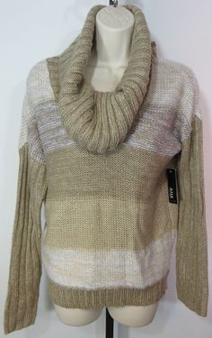 "NEW w/TAGS ""A.N.A"" TAN COWL NECK SWEATER - PLEASE SEE ALL PICTURES #ana #CowlNeck"