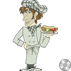 Fun Chefs Embroidery Design Collection | CD