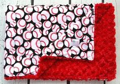 Baseball Double Minky Baby Blanket - Also available in adult sizes! #kemaily