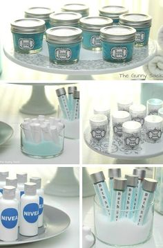 Throw the perfect spa day party by making these wonderful favors. You can customize the labels on each jar and bottle!