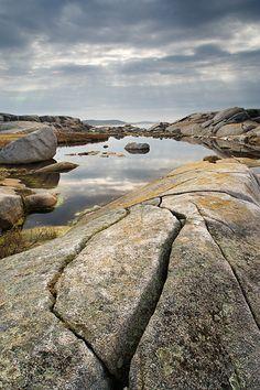 Rocky shore at Peggy's Cove, Nova Scotia, Canada