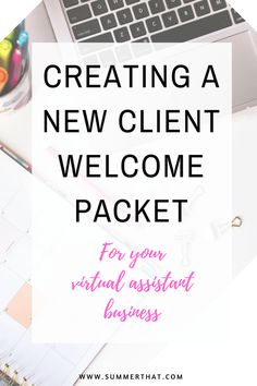 virtual assistant welcome packet