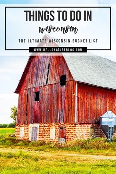 Wisconsin has an endless amount of beautiful places to visit and unique events to attend. So if you're planning your next trip to the cheese state or maybe you've lived here all your life, you won't want to miss all of these things to do in Wisconsin with this ultimate Wisconsin bucket list!