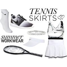#tennisstyle || By Vilma Swanepoel by vilma-swanepoel on Polyvore featuring H&M, NIKE, Chanel and tennisstyle