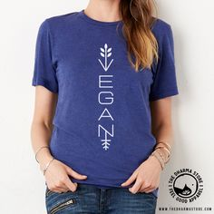 Be vegan and stylish with this awesome modern vegan shirt!
