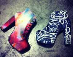 Today we look at their latest project. Black Milk Clothing has joined force with famous shoe designer, Jeffrey Campbell.