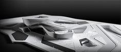 Architectural Model - Zhuhai Culture Center Competition Design Concept