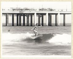 Vintage 1967 Black and White Surfing Photo Galveston by GipsyStyle, $20.00