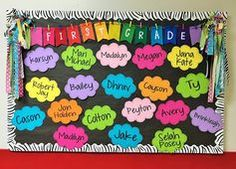 , Doodle Bugs Teaching first grade rocks!: Back to School Bulletin Boards {Ideas. , Doodle Bugs Teaching first grade rocks!: Back to School Bulletin Boards Ideas, Tips and Links. September Bulletin Boards, Kindergarten Bulletin Boards, Spring Bulletin Boards, Back To School Bulletin Boards, Classroom Bulletin Boards, Art Classroom, Classroom Ideas, Colorful Bulletin Boards, Classroom Organization