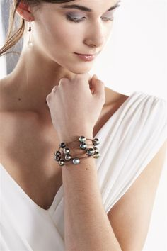 Wendy Mignot Fine Pearls and Leather Jewelry the authentic world renowned brand defining Gypset Style and Bohemium Chic presents the Four Strand Tahitian Bracelet from the Society Collection. Discover Wendy Mignot Designs in the eBoutique.