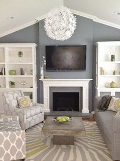 Paint only on wall - HARMONY this combination uses both types of harmony. It applies to the variety from because all of the furnishings and carpet have different patterns on them, but it also applies to the unity because all of them have the unified colors of white and grey.