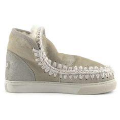 Mou Boots Mini Eskimo Sneaker Women Stone Metallic - MOU #mouboots #mousale #moubootssale #BlackFriday