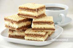 Wafle z masą mleczno-kakaową, wafle z masą z mleka w proszku, mleko w proszku…