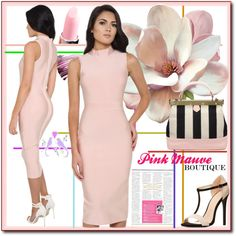 Pink Mauve Boutique5. by esma178 on Polyvore featuring Charlotte Russe and Yves Saint Laurent