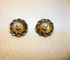 Vintage 12kt GOLD Filled CULTURED Pearl Earrings