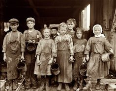 Old days of child labor...There was nothing good about child labor