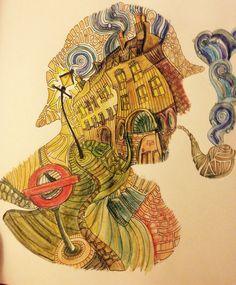 Baker Street coloured by Hazel Smithies in Inktense pencils