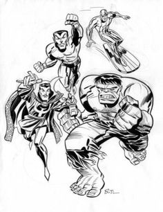 browsethestacks:  Defenders by Bruce Timm