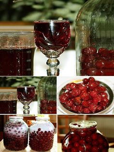 Ликер из вишни Russian Recipes, Mason Jar Wine Glass, Raspberry, Diy And Crafts, Projects To Try, Food And Drink, Cooking Recipes, Fruit, Eat