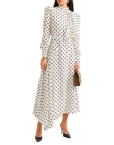 Beautiful Clothes, Beautiful Outfits, Dot Dot, Silk Midi Dress, Muslim Fashion, Cotton Silk, Dresses With Sleeves, Lace, Long Sleeve
