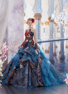 ネイビードレス Ball Dresses, Prom Dresses, Wedding Dresses, Moda Lolita, Fantasy Gowns, Fairytale Dress, Special Dresses, Embellished Dress, Lolita Dress