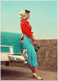 Summer vintage style Capri, Italian 50s style