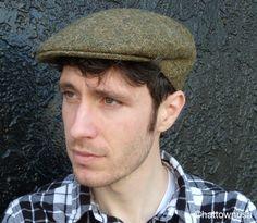 f31ecd3bee3 Irish Cap Donegal Tweed Ivy Driving Golf Olive Fine Weave Jonathan Richard  Cabbie Newsboy Country Hats