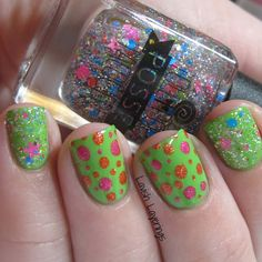 Lavish Layerings - Neon Glitter