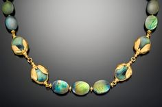 Gold and Labradorite Necklace by Lilly Fitzgerald, Goldsmith.