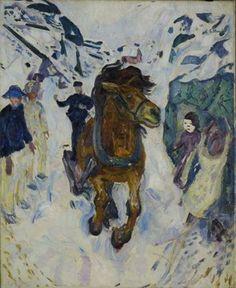 Edvard Munch. Cheval au galop - 1910-1912 - Huile sur toile