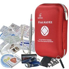 DeftGet First Aid Kit - 163 Piece Waterproof Portable Essential Injuries & Red Cross Medical Emergency. Title: DeftGet First Aid Kit - 163 Piece Waterproof Portable Essential Injuries & Red