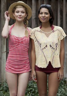 Bathing Beauty One Piece in Cherry Pie, #ModCloth