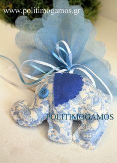 Μπομπονιέρα βάπτισης υφασμάτινο ελεφαντάκι | Ανθοδιακοσμήσεις | Χειροποίητες μπομπονιέρες και προσκλητήρια | Είδη γάμου και βάπτισης | Politimogamos.gr