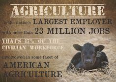 Agriculture, the Nation's largest employer