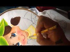 Pintura en tela niña fresa # 3 con cony - YouTube