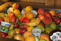 We have healthy food too- fruit, yogurt, granola, oatmeal, eggs