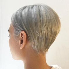 Ash Blonde Slicked Back Pixie