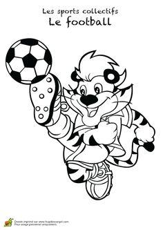 Image à colorier de la mascotte d'une équipe de foot