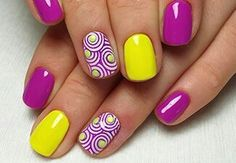 The Best Nail Art Designs – Your Beautiful Nails Best Nail Art Designs, Nail Designs Spring, Gel Nail Designs, Bright Gel Nails, Bright Nail Art, Trendy Nail Art, Cool Nail Art, Nautical Nail Designs, Nail Picking