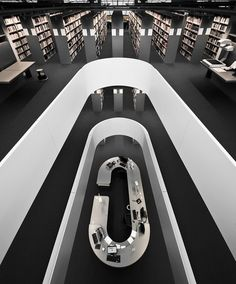 Philological Library of the Free University, Berlin, Germany. Designed by Norman Foster in the shape of a human brain. Minimalist Architecture, Minimalist Interior, Amazing Architecture, Interior Architecture, Interior And Exterior, Interior Design, Installation Architecture, Building Architecture, Norman Foster