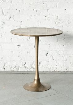 Brass Tulip Side Table | Patina