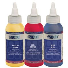 Yudu Primary Colored Ink Set