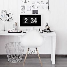 Scandinavian inspired home offices | onlydecolove on instagram