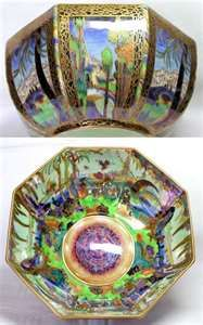 Arts and Crafts - Wedgwood Fairyland Lustre Bowl depicting the Castle ...
