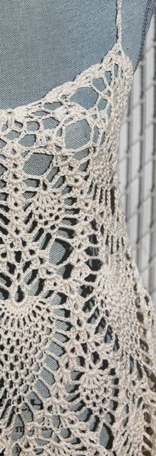 Pinapple Lace Crochet Layer Dress Made to order in by DearAlina