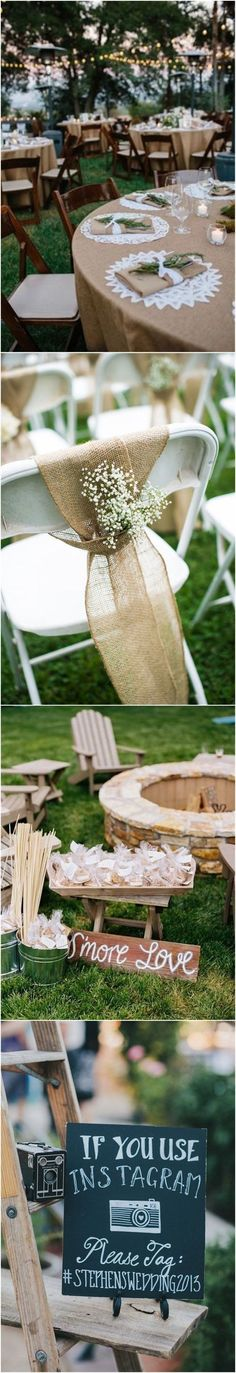 Wedding Decorations » 22 Rustic Backyard Wedding Decoration Ideas on A Budget » ❤️ More: http://www.weddinginclude.com/2017/08/rustic-backyard-wedding-decoration-ideas-on-a-budget/ #weddingplanningonabudget